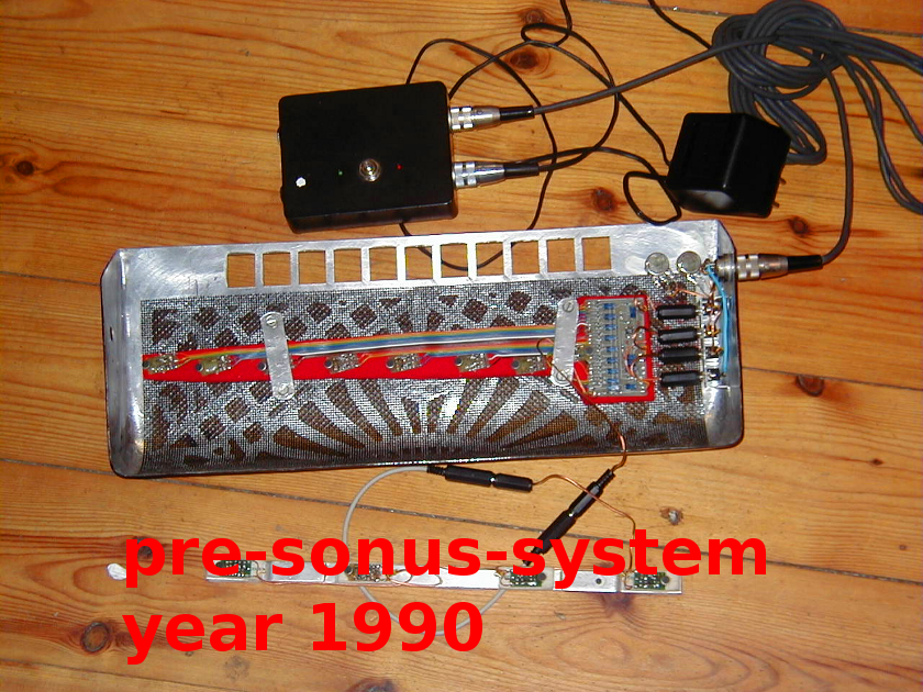 Accordion microphone system - reworked by the user so he could change it to his other instrument.